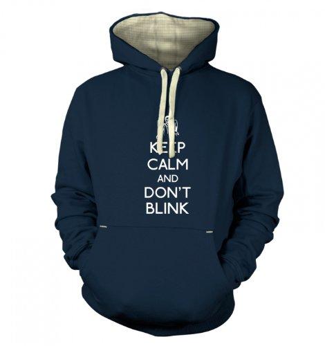 Keep Calm And Don't Blink Hoodie (premium) – Film Movie Geeky Tshirt – Midnight