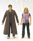 DR WHO 10TH DOCTOR AND ROSE TYLER ACTION FIGURES (PURPLE TOP)