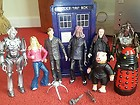 DOCTOR WHO ACTION FIGURES CYBERMAN DALEK ROSE TYLER TARDIS ETC