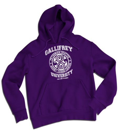 Gallifrey University Time Lord Academy Heavyweight Hoodie Purple XX Large