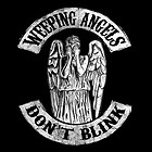 """Doctor Who """"Weeping Angels Don't Blink"""" black men t shirt XL size 100% cotton"""