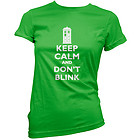 Keep Calm And Don't Blink T Shirt Womens XL (Size 14) Green