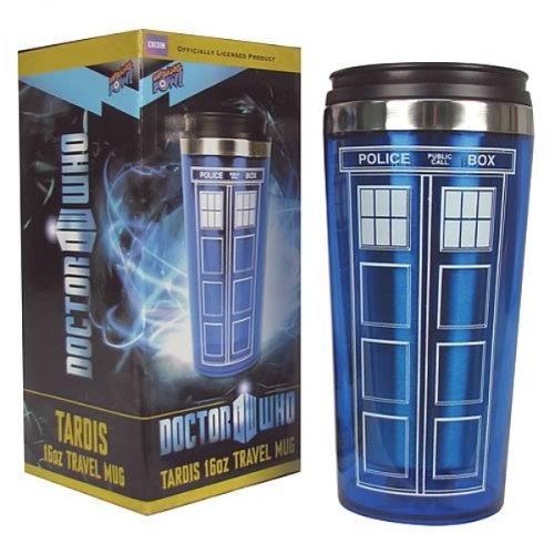 Doctor Who TARDIS 16 oz. Travel Mug, Garden, Lawn, Maintenance