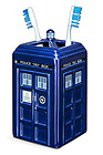 Doctor Who TARDIS Ceramic Toothbrush Holder – Beware Daleks!! Bathroom Accessory
