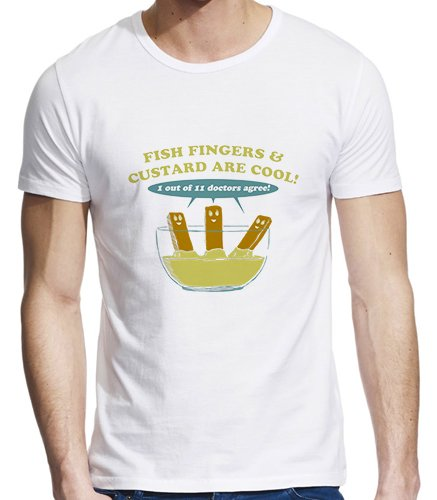 Fish Fingers And Custard Are Cool Funny T-Shirt – X-Large