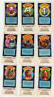 DOCTOR WHO WEETABIX Game Cards – Lot of 9 – 1977 – Daleks Cybermen Vogans etc.