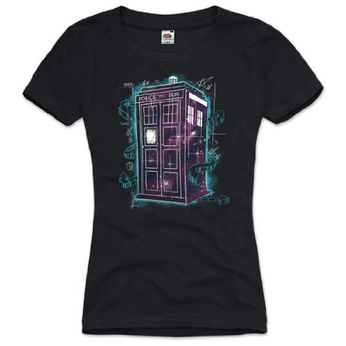 style3 Dr. Doctor Who Space T-Shirt Women dalek dr police who tardis box tv, Size:XL