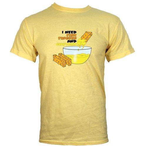 Haze Yellow Medium (Mens 38″ – 40″) I Need Fish Fingers And Custard Mens T-shirt