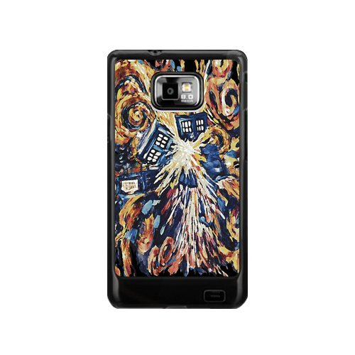 Custom Your Own Doctor Who Big Exploded art Painting SamSung Galaxy S2 I9100 Case , Special designer Doctor Who Galaxy S2 Case