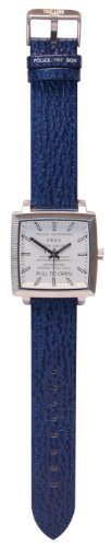 Dr Who Men's Quartz Watch with White Dial Analogue Display and Blue Plastic or Pu Strap DR173