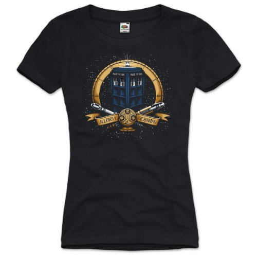 style3 Geronimo T-Shirt Women Who dalek dr. Doctor tardis time police box space tv, Size:M