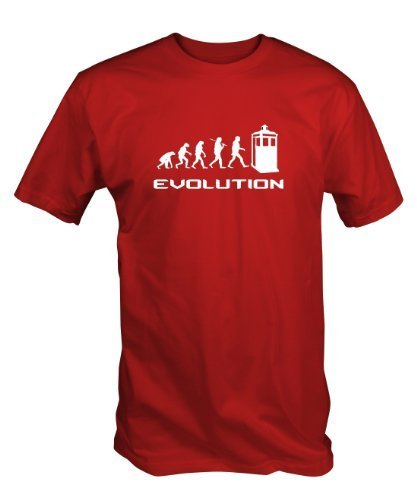 Timelord Evolution T Shirt (in Navy , Black or Red) (XL, Red)