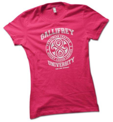 University of Gallifrey Ladies T-Shirt Hot Pink Large 16