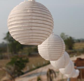 New Solar Powered LED WHITE Mini Paper Lantern Fairy Light String By DALEK DESIGNS TM