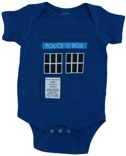 Doctor Who & The Daleks Tardis Baby Onesie Romper (0-6 Months)