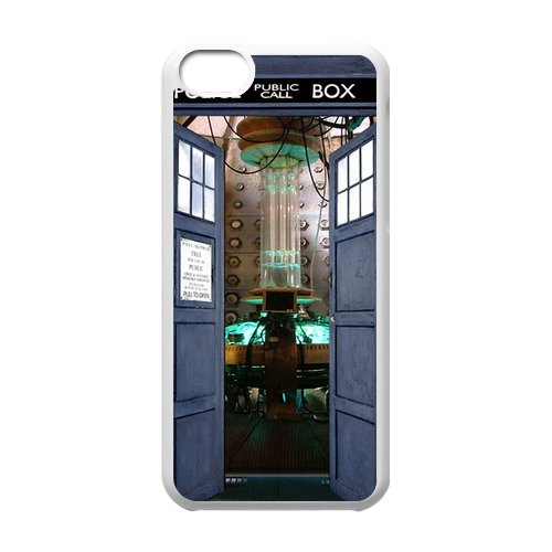 Top Quality Tardis Doctor Who Police Box Fashion Durable Hard Plastic Cover Case (HD Image) For Iphone 5c