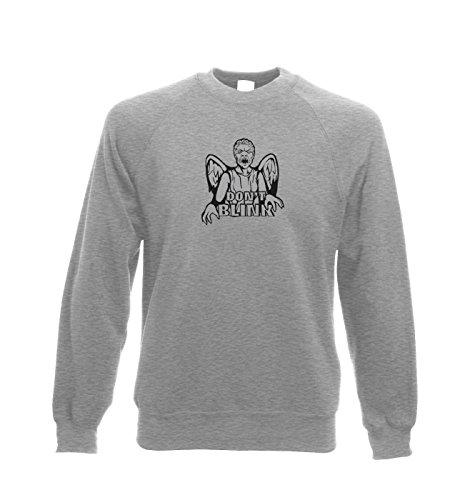 Don't Blink Weeping Angel Sweatshirt – Tv Film Movie Sweatshirt – Heather Grey