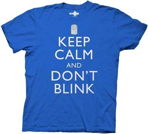 Poster Revolution Doctor Who Keep Calm And Don'T Blink T-Shirt, Royal Blue, Large