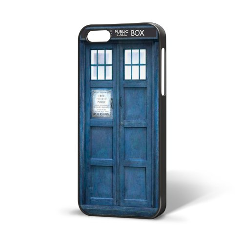 B-12 – Black – Doctor Who Police Box Dr – iPhone 5 Hard Plastic case – Xmas, Birthday Novelty Gift