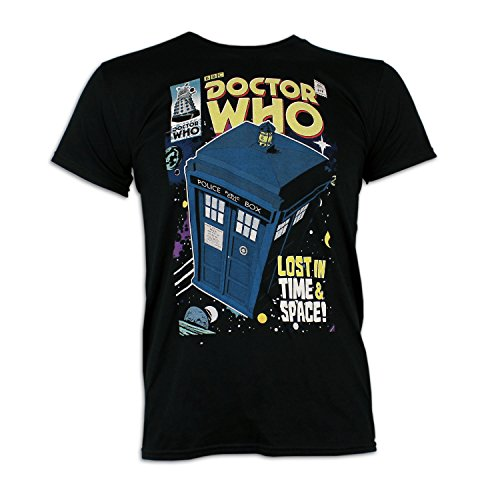 Mens Dr Who Tardis T-Shirt | Doctor Who Tardis T-shirt | Large