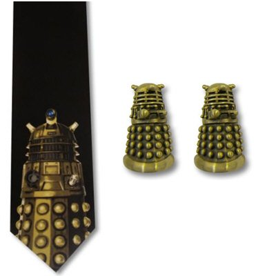 Dr Who 3D Dalek Mens Cufflinks