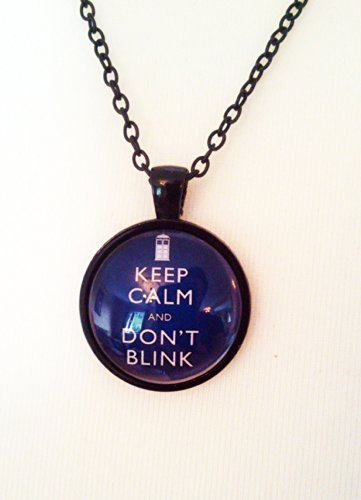 Keep Calm and don't Blink Doctor Who Pendant