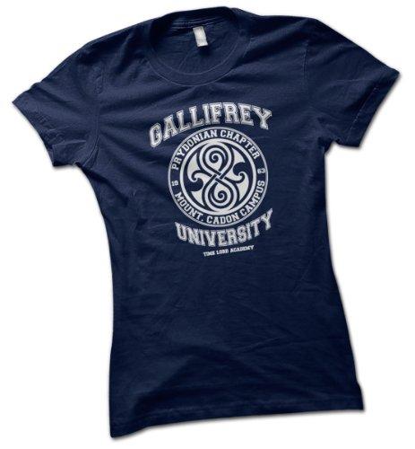 University of Gallifrey Ladies T-Shirt Dark Navy Large 16