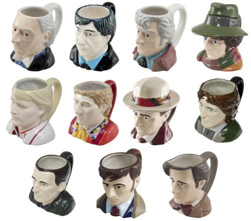 Doctor Dr Who 3D Toby Jug Mugs – All 11 Doctor Who Ceramic Face Mugs in one convenient collectors bundle