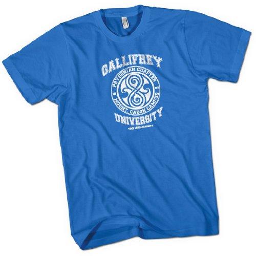 Gallifrey University Time Lord Acadeny Mens Premium T-Shirt Royal Blue Medium