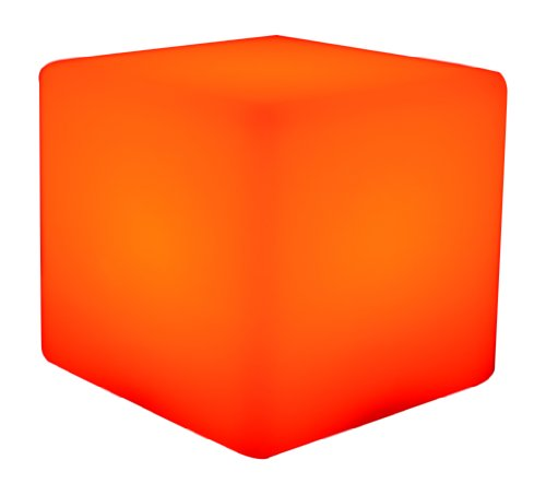 PK Green 4-inch LED Colour Changing Cube Mood Light with Rechargeable Battery