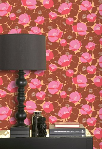 Amy Butler Field Poppies Wallpaper Colour: Pink
