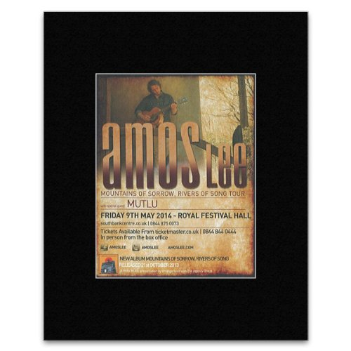 AMOS LEE – Mountains Of Sorrow Rivers Of Song Tour – 2013 Matted Mini Poster – 13x10cm