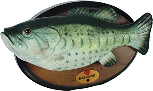 """Awesome product Big Mouth Billy Bass Singing Fish / Billy Sings the Song of Your Choice """"Don't Worry Be Happy"""" or """"Take Me To The River"""" in His Own Version of Course"""