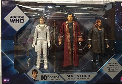 New BBC Doctor Who series 4 action figure set River Song Donna Noble The Narrator