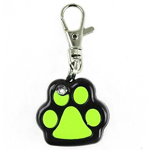 Pet Dog LED Flashing Night Light Footprint Paw Print Buckle Blink Pendent Collar