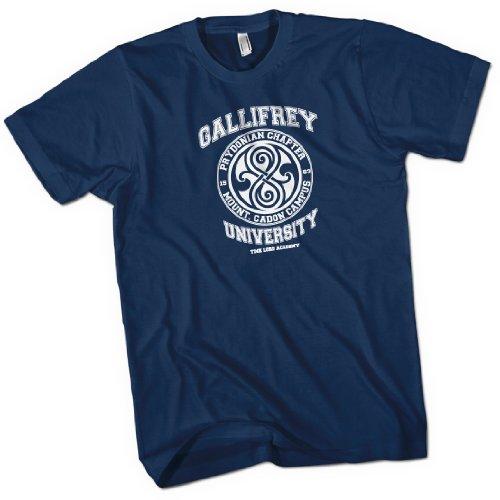 Gallifrey University Time Lord Acadeny Mens Premium T-Shirt Navy Blue Small