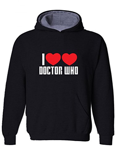 I LOVE DOCTOR WHO- Sci fi fanatic Mens Hoodie, Hooded top