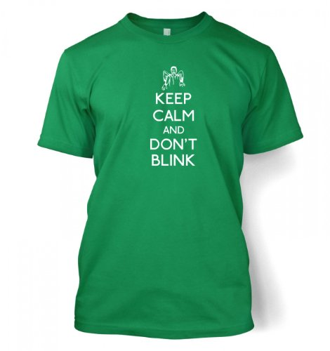 Keep Calm And Don't Blink T-shirt – Films, TV And Movie Geeky Tshirt – Kelly