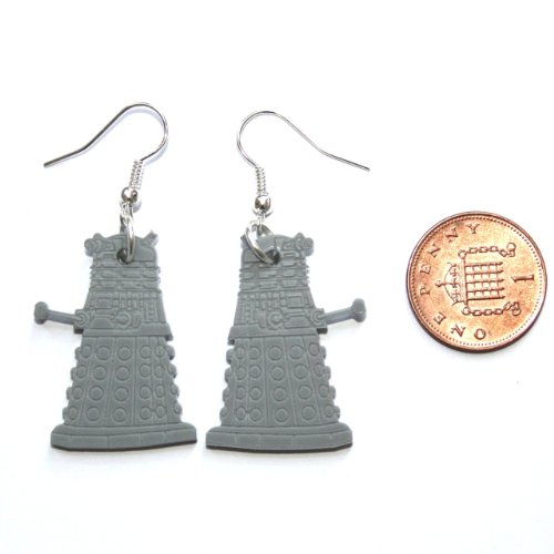 Sour Cherry Doctor Who Dalek Earrings