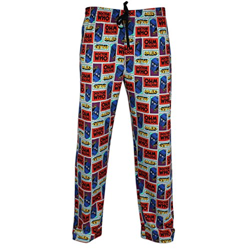 Mens Dr Who Lounge Pants | Doctor Who PJ Bottoms | Medium