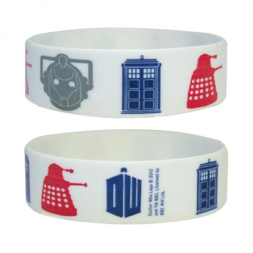 Doctor Who Icons Rubber Wristband- 65mm Diameter x 25mm High