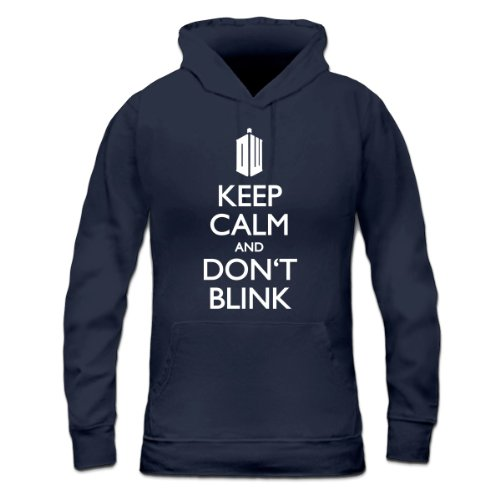 Keep Calm and Don't Blink Women's Hoodie by Shirtcity
