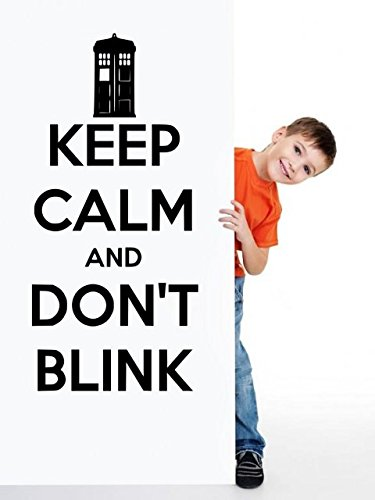 'Keep Calm and Don't Blink' – Doctor Who Vinyl Wall Decor (Small: 30cm x 60cm / 12″ x 24″)