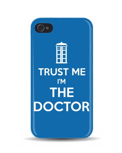 iPhone 4/4S Trust Me I'm The Doctor 'Dr Who' 3D Mobile Phone Cover