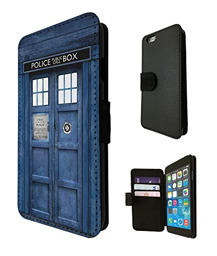 """Doctor Who Tardis Police Call Box Design Fashion Trend Credit Card Holder Purse Wallet Book Style Tpu Leather Flip Pouch Case For All iphone 6 4.7"""" / iphone 6 Plus 5.5"""" / iphone 4 4S / iphone 5 5S / iphone 5C Full Case Flip Leather Stand Cover – Choose your Phone model from the drop box Below (iphone 5C)"""