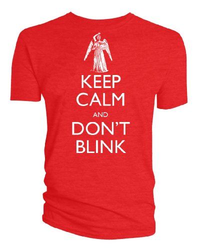 Doctor Who: Keep Calm Don't Blink Weeping Angel Mens T-Shirt (Large)
