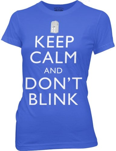 DR. WHO — KEEP CALM AND DONT BLINK — JUNIORS TEE (XLarge)