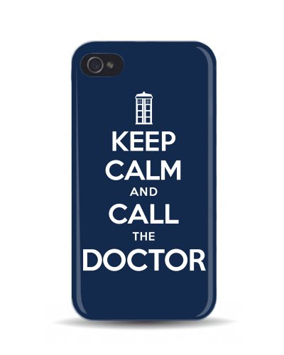 iPhone 4/4S 'Keep Calm and Call the Doctor' Dr Who 3D Mobile Phone Cover