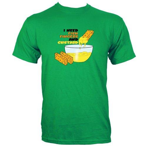 Green Medium (Mens 38″ – 40″) I Need Fish Fingers And Custard Mens T-shirt
