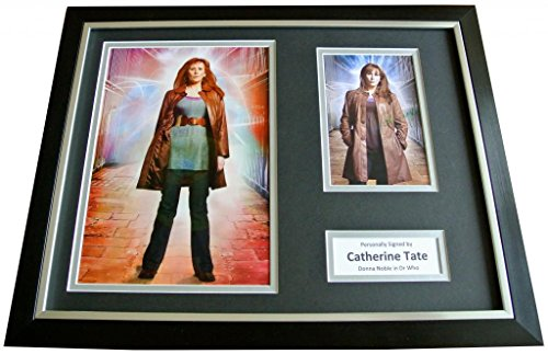 Sportagraphs CATHERINE TATE Signed FRAMED Photo Autograph 18×14 Display DOCTOR WHO & COA PERFECT GIFT